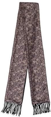 Alexander McQueen Reversible Wool Scarf