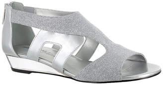 Easy Street Shoes Womens Abra Pumps Peep Toe Wedge Heel