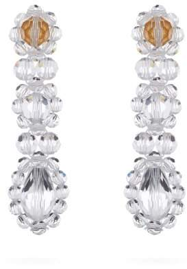 Simone Rocha Crystal Drop Earrings - Womens - Clear