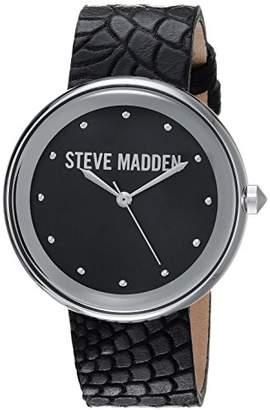 Steve Madden Women's Quartz Silver-Tone Fashion Watch