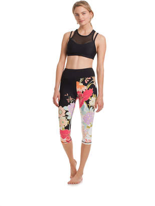 Trina Turk ROYAL GARDEN HIGH WAISTED CAPRI