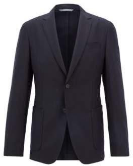 BOSS Hugo Slim-fit blazer in washable virgin wool 38R Open Blue