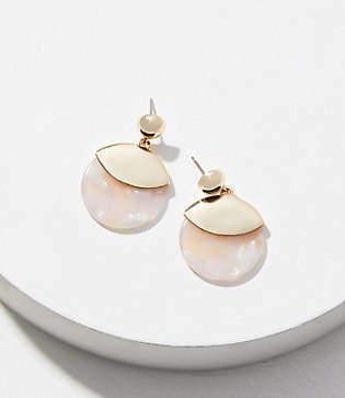 LOFT Metallic Resin Drop Earrings