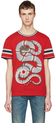 Gucci Red Snake T-Shirt $550 thestylecure.com