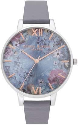 Olivia Burton Under the Sea Floral Leather Watch