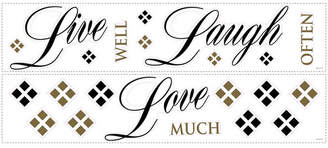 York Wall Coverings York Wallcoverings Live Love Laugh Peel and Stick Wall Decals