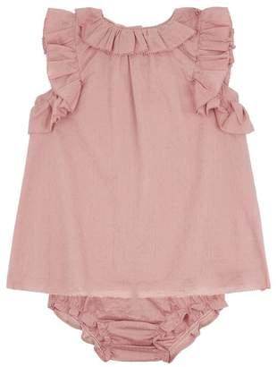Burberry Ruffled Cotton Dress
