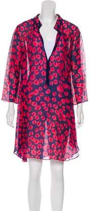 Thakoon Linen & Silk-Blend Printed Dress