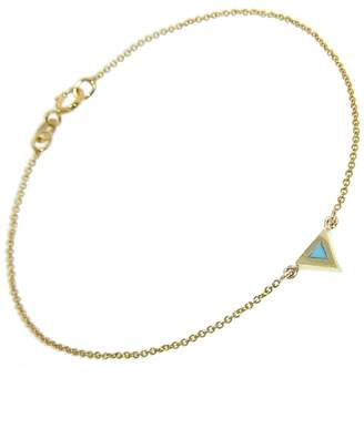 Jennifer Meyer Turquoise Inlay Triangle Bracelet