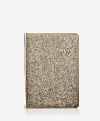 GiGi New York 2019 Notebook In White Gold Metallics Leather