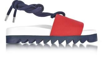 Joshua Sanders Red Canvas Sailor Flatform Sandals
