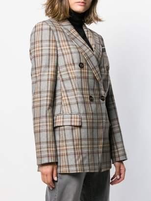 Brunello Cucinelli double-breasted check blazer