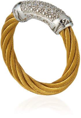 Alor White Diamond Pavé Cable Ring