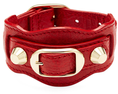 Balenciaga  Classic Buckle Leather Bangle Bracelet