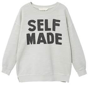 MANGO Flecked message sweatshirt