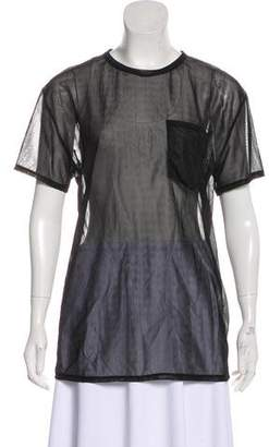 Acne Studios Mesh Short Sleeve Top