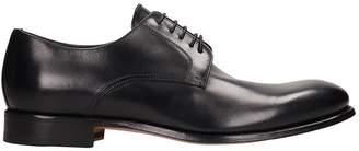 J. Wilton Black Leather Laces Up