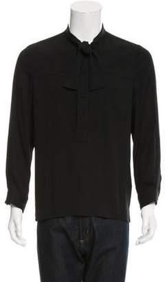 Gucci Silk Popover Shirt