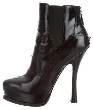 pradaPrada Platform Ankle Boots