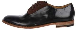 Paul Smith Suede-Accented Patent Leather Oxfords