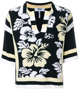 MSGM woven floral jumper