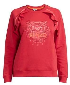 Kenzo Ruffled Tiger Cotton Sweatshirt
