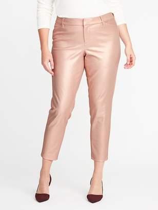 Old Navy Smooth & Slim Mid-Rise Plus-Size Metallic Pixie Pants