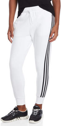 adidas White Essential Stripe Joggers