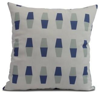 Simply Daisy, 18 x 18 inch, Bowling Pins, Geometric Print Pillow, Blue