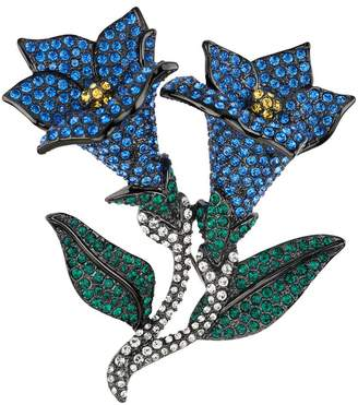 Joan Rivers Classics Collection Joan Rivers Jeweled Blossoms Pave' Bluebells Pin