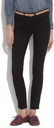 Madewell Skinny Skinny Ankle Jeans in Black Frost Wash