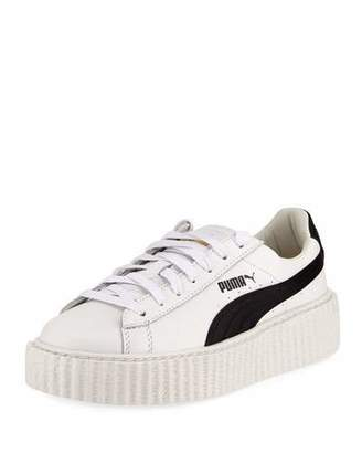 Fenty Puma by Rihanna Leather Creeper Sneaker, White/Black $150 thestylecure.com