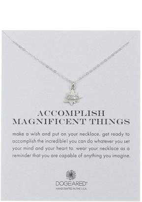 Dogeared Sterling Silver 'Accomplish Magnificent Things' POW Charm Pendant Necklace