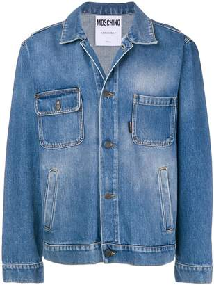 Moschino asymmetrical pocket denim jacket