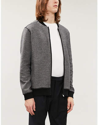 BOSS Stretch-cotton knitted cardigan