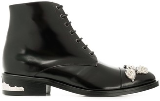 Toga Pulla polished lace-up boots