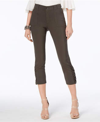 INC International Concepts I.n.c. Ruched Cropped Pants, Created for Macy's