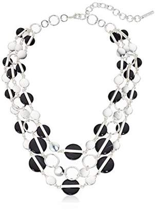 "Nine West Silver-Tone and 16"" Multi Row Necklace"