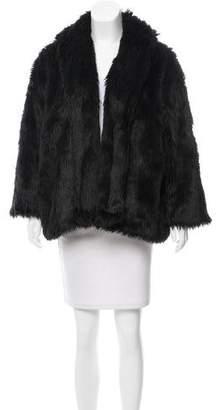 Alice + Olivia Faux Fur Open Front Jacket