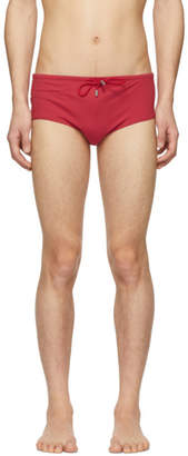 Vilebrequin Red Tuxedo Night Swim Briefs