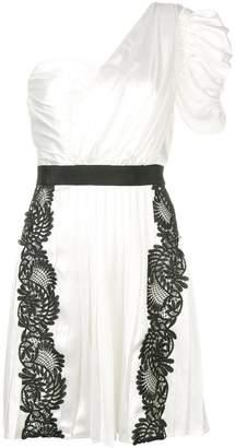Self-Portrait floral lace inserts dress