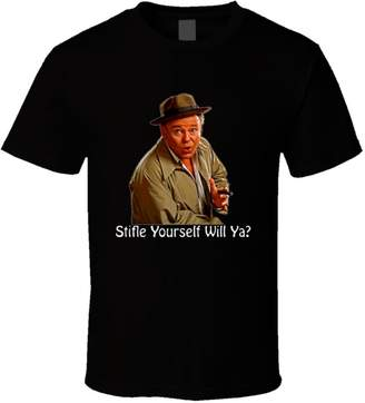 Perfect Fit T Shirts All in The Family Archie Bunker Stifle Yourself T Shirt L