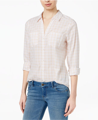 Maison Jules Cotton Gingham Shirt, Created for Macy's $59.50 thestylecure.com