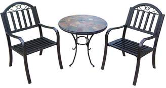 Rochester Outdoor Umbrella-Ready Table & Chair 3-piece Set