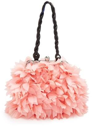 Marni Floral mini organza-appliqué embellished bag