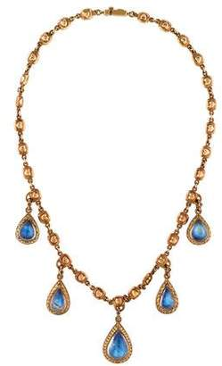 Loree Rodkin Moonstone Teardrop Necklace