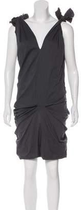 Liviana Conti Raw-Edged Knee-Length Dress
