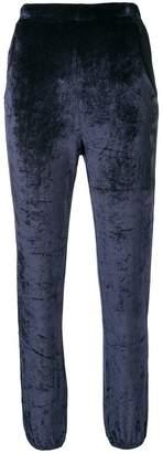 Sonia Rykiel velvet effect track trousers