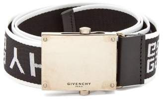 Givenchy Logo Jacquard Belt - Mens - Navy