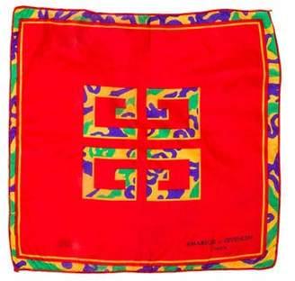 Givenchy Logo Silk Pocket Square